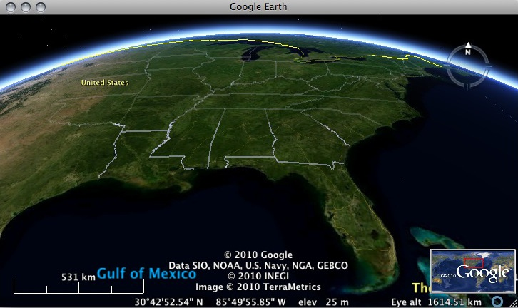 bing maps aerial in google earth
