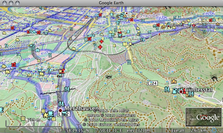 how to open gpx in google earth