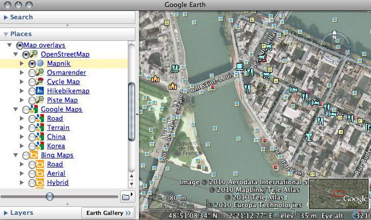 Google Earth Map Overlays