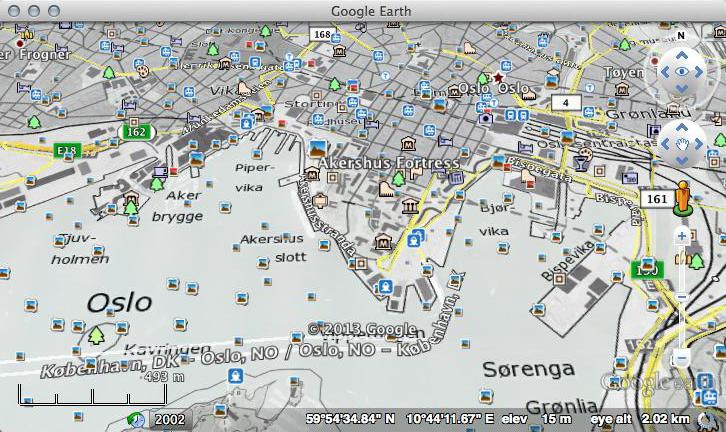 Norgeskart Maps (Norway) in Google Earth