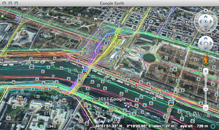 OpenStreetMap GPS Traces in Google Earth