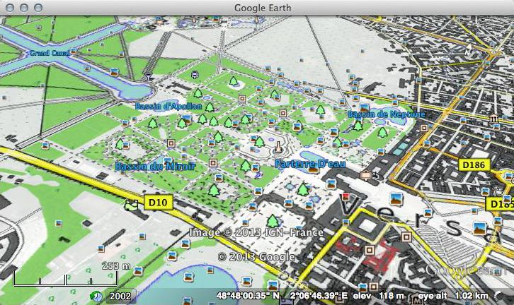 OpenStreetMap OpenTopoMap in Google Earth