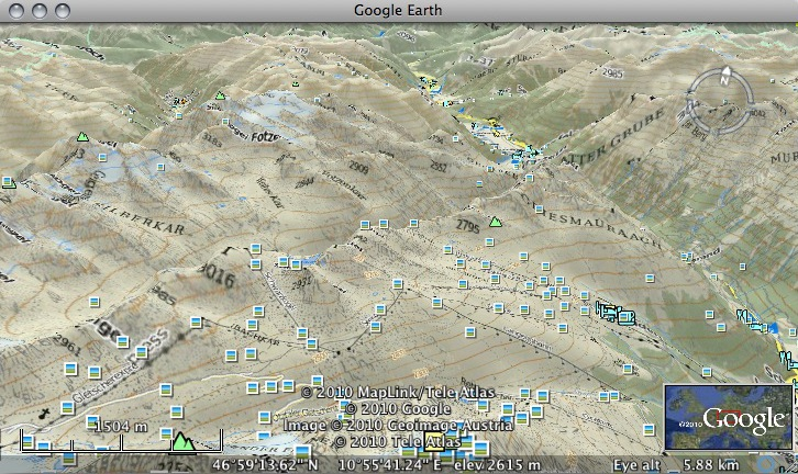 Outdooractive Maps in Google Earth